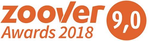 Zoover Awards gastbeoordeling 9,0