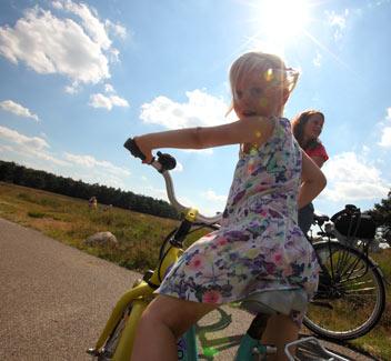 Met de fiets op pad