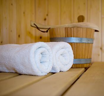 Häuschen mit Sauna