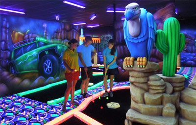Glowgolf mit Menu du Chef